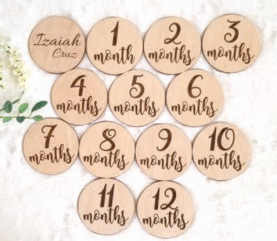 Baby Wooden Milestone Markers