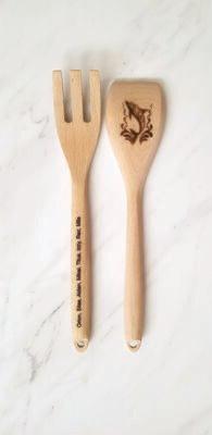 Laser Engraved Wooden Spoon Set