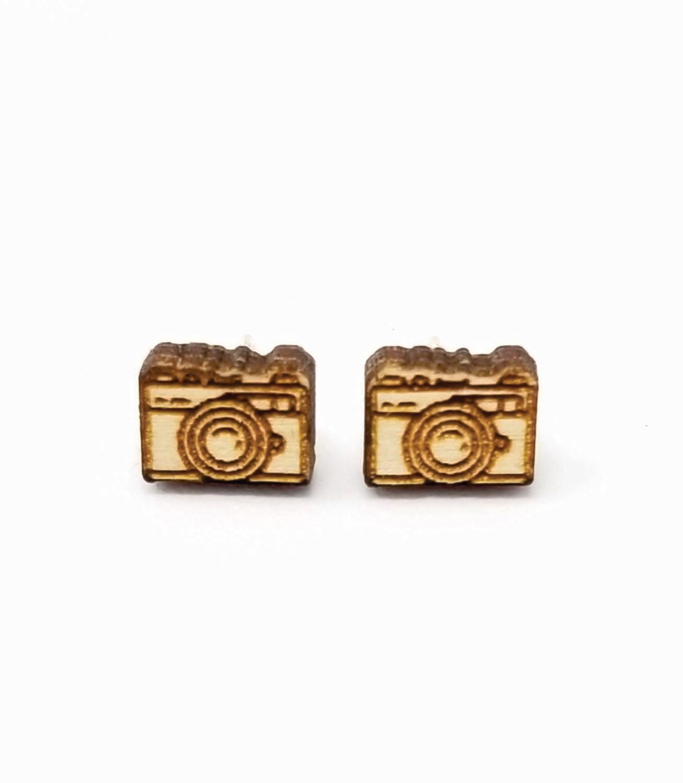Wooden Earring Studs