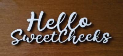 Hello Sweet Cheeks Bathroom Wood Sign