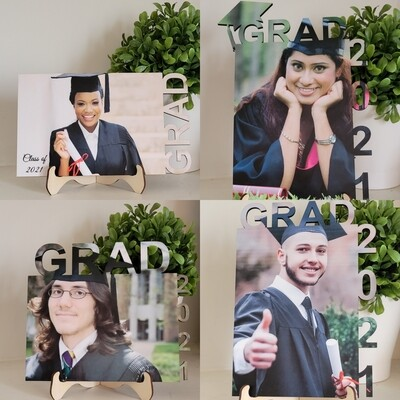 Graduation Photo Laser-cut and Sublimated