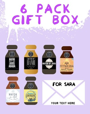 Customizable 6 pack gift with box & card