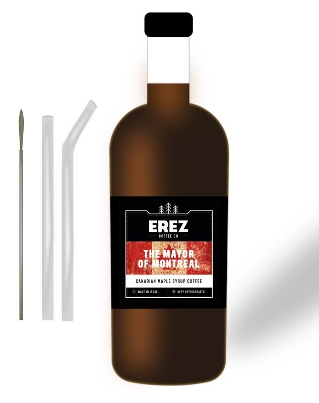 1 Large Coffee + Metal Straw Set