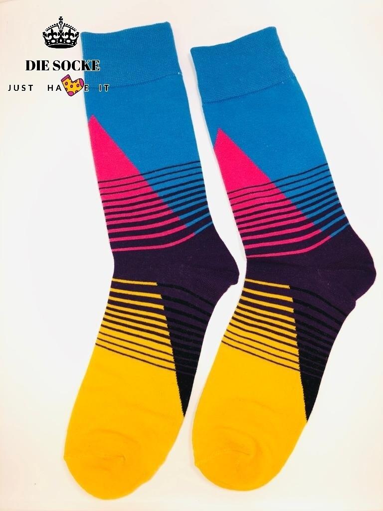 Business Herren Socken mehrfarbige Rosa-Schwarz-Gelb-Blau