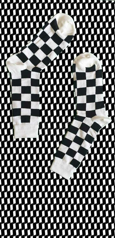 Black and White Skateboard Socken