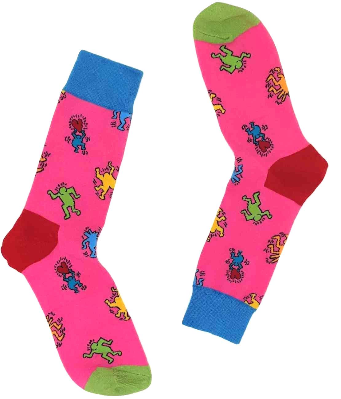 Lustige Männer Socken mit Leute (Pink)