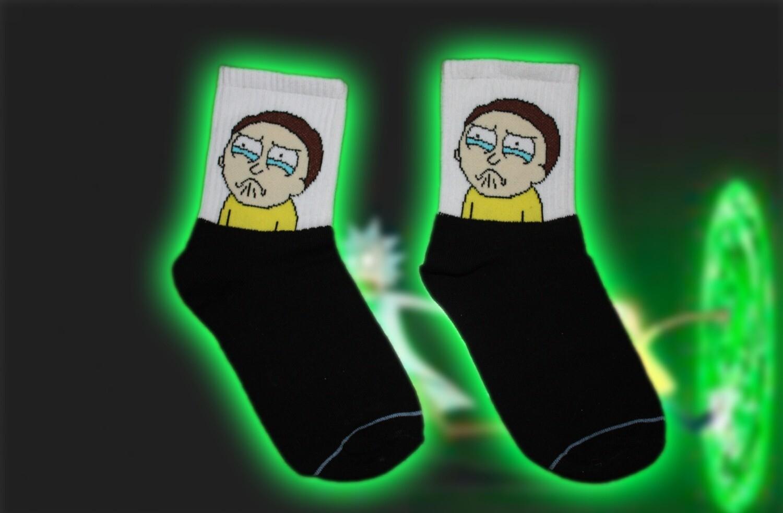 Socken mit Morty 👽🧦