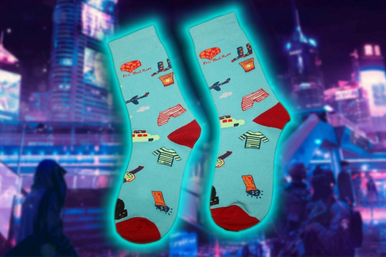 "Socken mit ""Bekleidung"" Print  🥋👕 🧦"