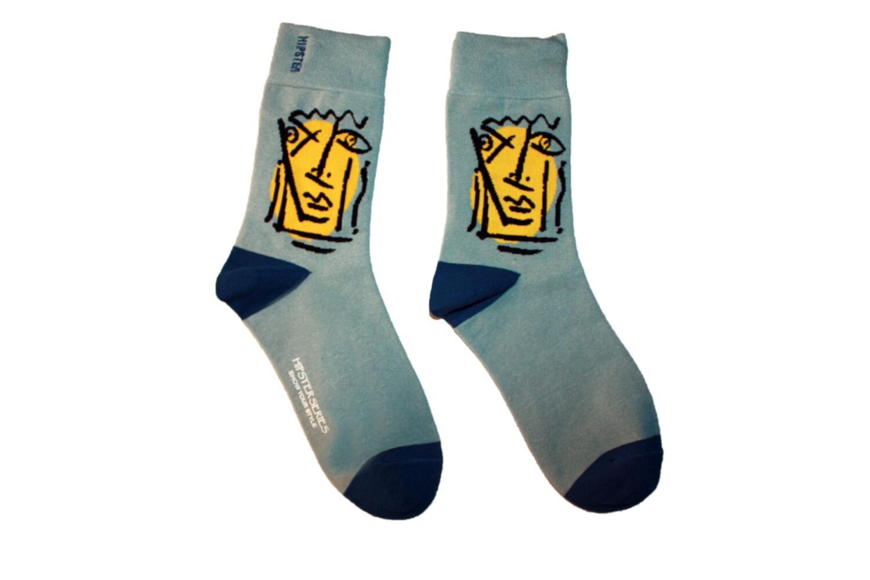 Hipster Socken mit Gesicht ☮🧦