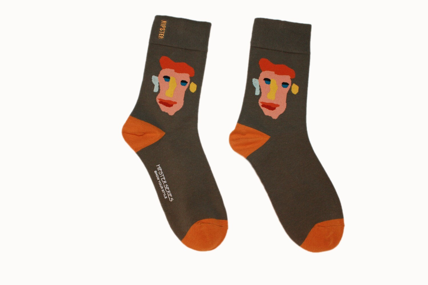 """Hipster Socken mit """"Painted Face"""" Print ☮🧦"""