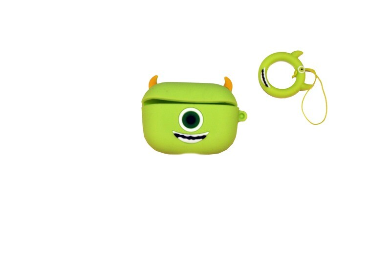 Grüne AirPods Hülle mit Monster