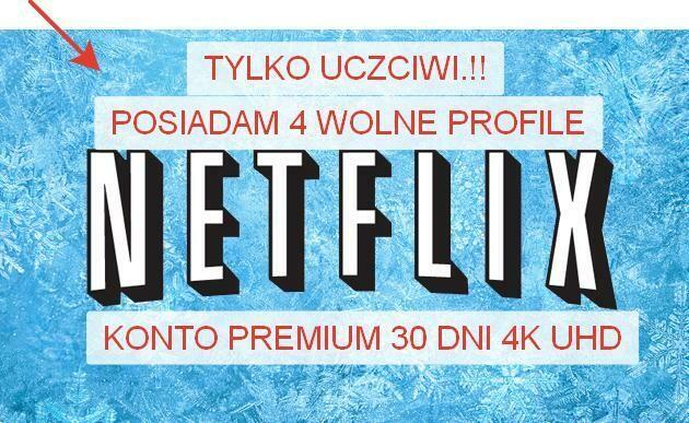 Dostep do Netflix 30 dni