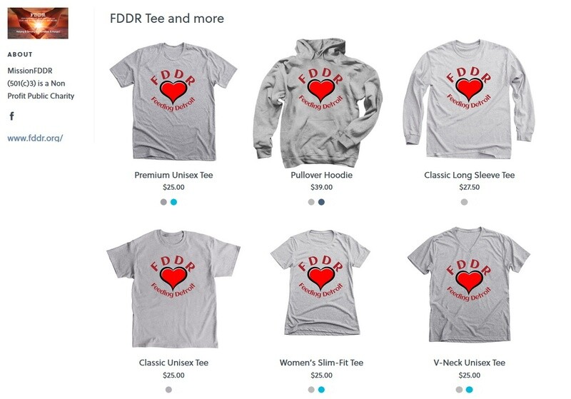 FDDR Merchandise has moved . see the link on top of the page.