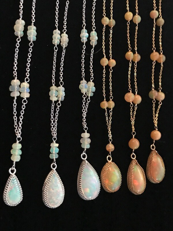 Gold Opal Necklaces