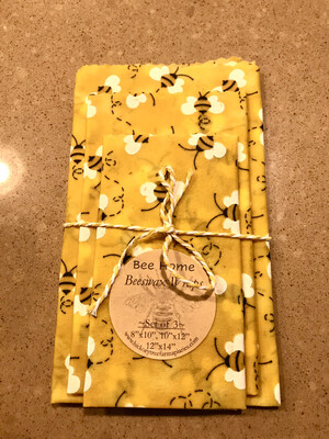 Beeswax Food Wraps (Yellow Bees)