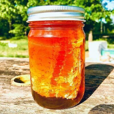 Raw Chunk Honey (1 lb Jar)