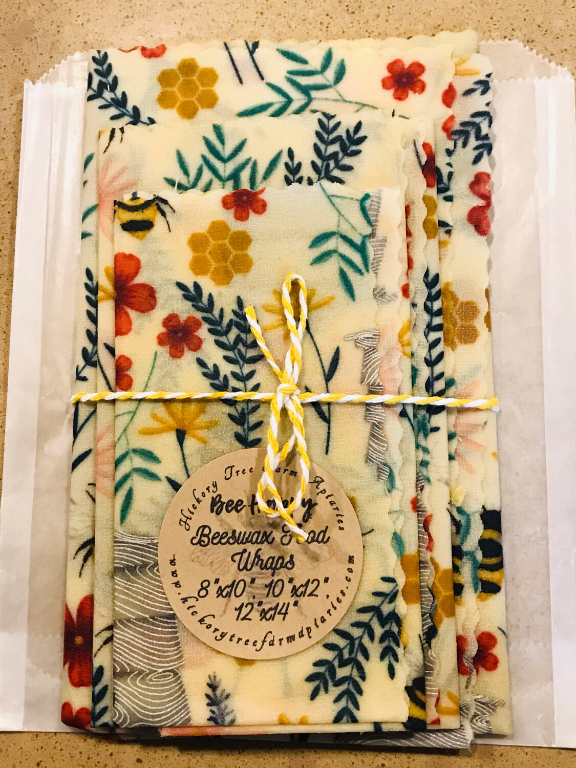 Beeswax Food Wraps (Bees and Hives)
