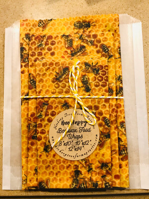 Beeswax Food Wraps (Real Bees)