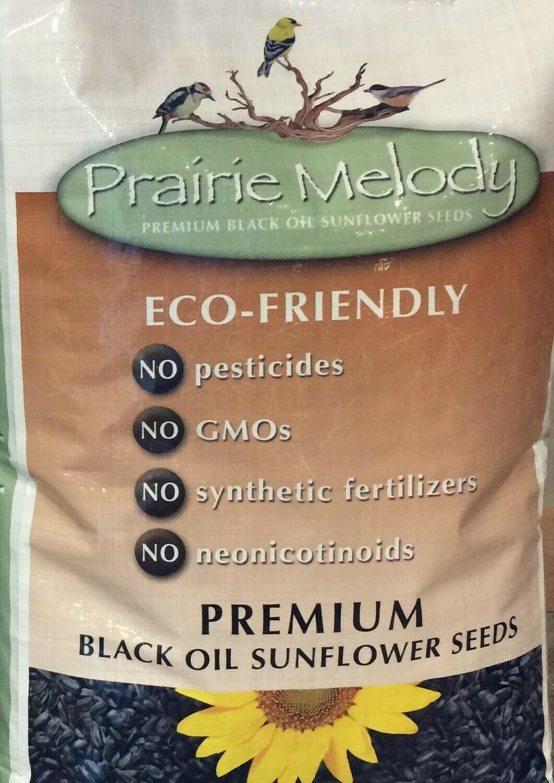 Pesticide Free - Black Oil Sunflower Birdseed - 12-pound bag