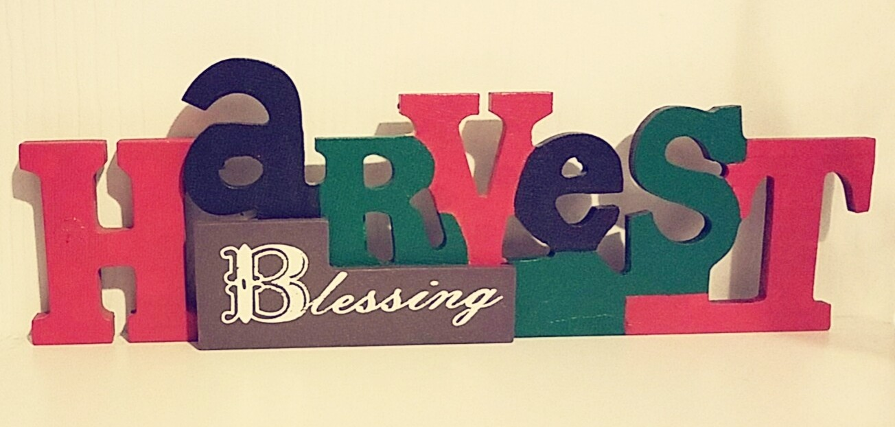 Colors of Africa Harvest Blessing Wood Decor