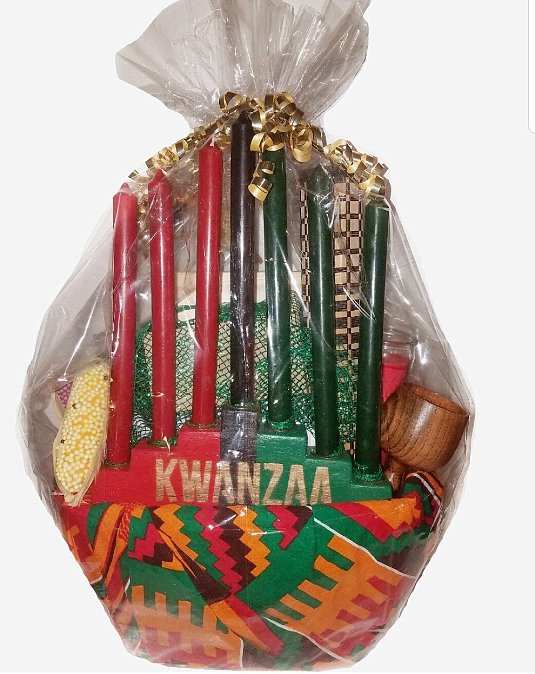 Seven Symbols of Kwanzaa Celebration Gift Basket Set