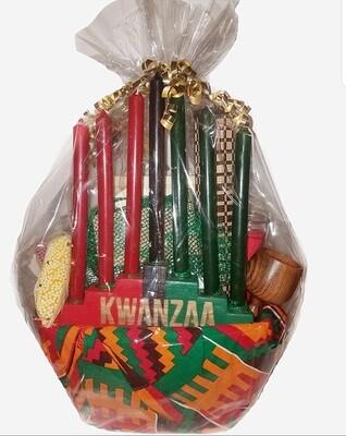 Seven Symbols of Kwanzaa Celebration Gift Basket Set