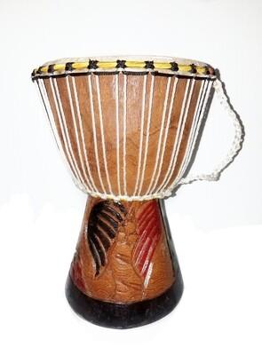 African Series Djembe Drum w/ Original Style African Rope