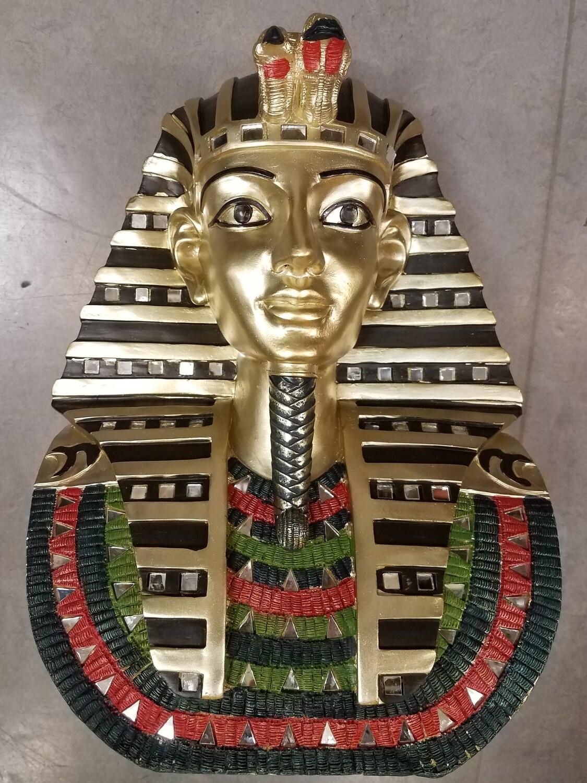 King Tut Tutankhamun Red, Black, Green, Gold Statue-Large