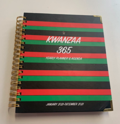 HARDCOVER-Kwanzaa 365 Yearly Planner & Agenda (January 2021-December 2021)-12 Month (Great Holiday Gift)