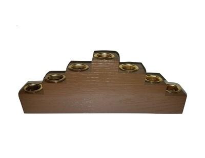 """Kwanzaa"" Kinara -Traditional Brown with Gold Finish"