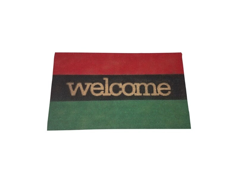 Pan African UNIA Flag Welcome Doormat
