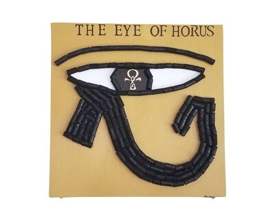 Eye of Horus Wood Wall Decor 2X2