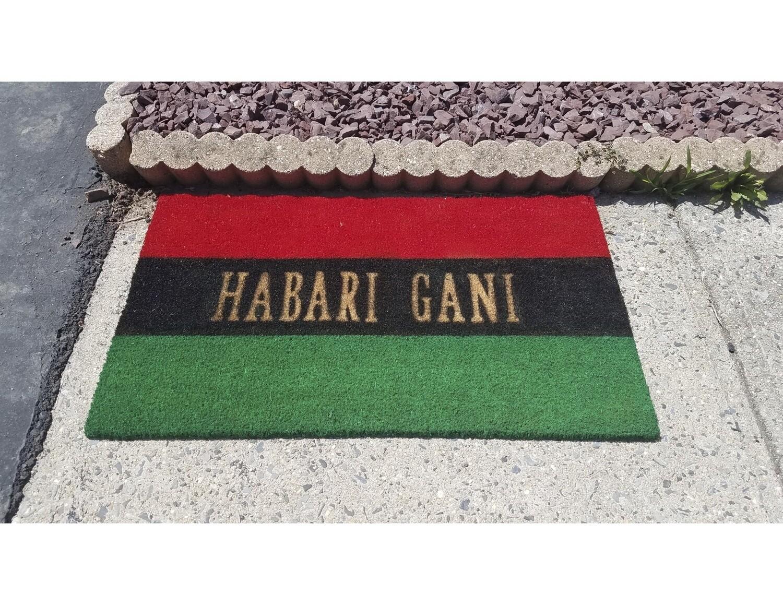 Pan African UNIA Flag Habari Gani Doormat