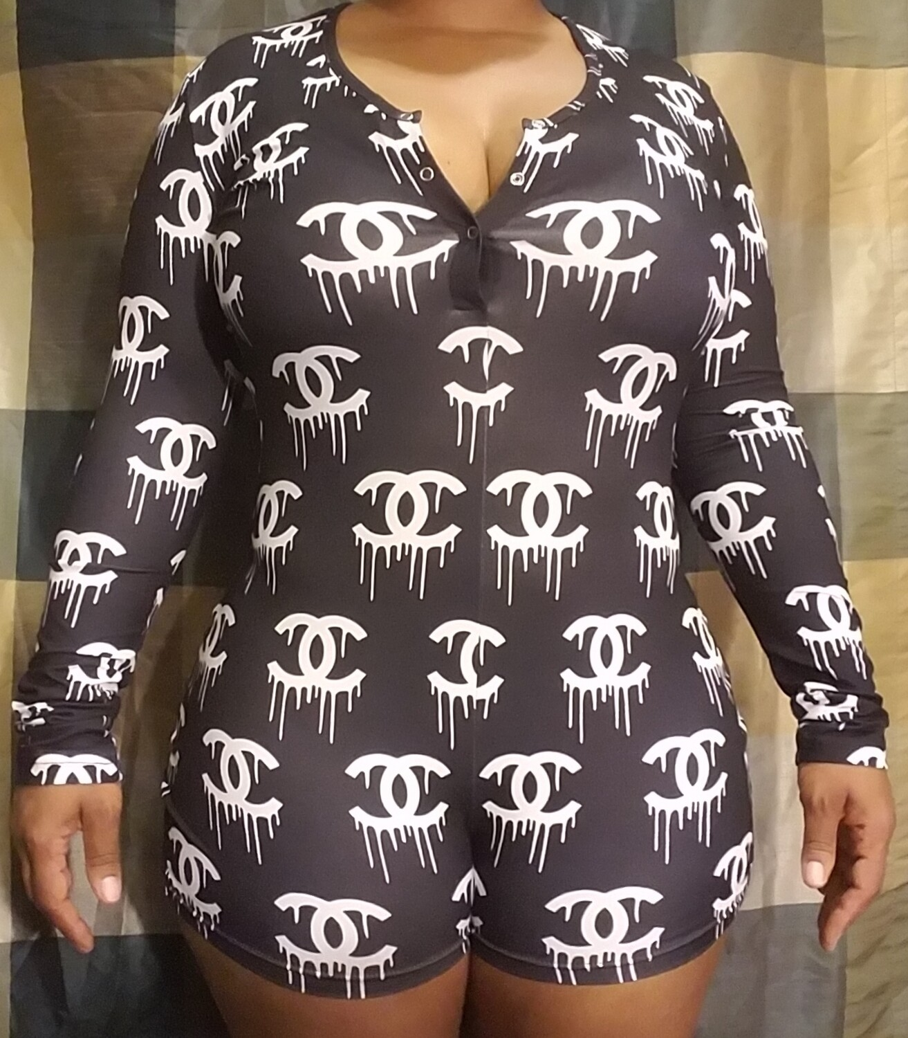 Women's Long Sleeve Shorts Playsuit, Casual, Party, Onesie Pajama Wear