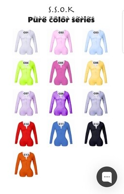 Women's Long Sleeve Shorts Playsuit, Casual, Party, Onesie Pajama Wear- PURE COLOR SERIES