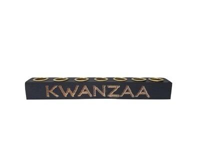 Kwanzaa Kinara - Hand carved