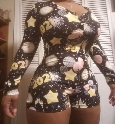 Women's 2021 Long Sleeve Shorts Onesie