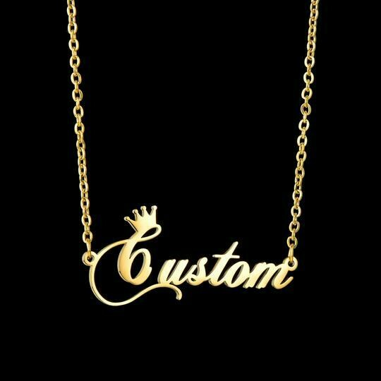 Custom Name Necklace (Crown)