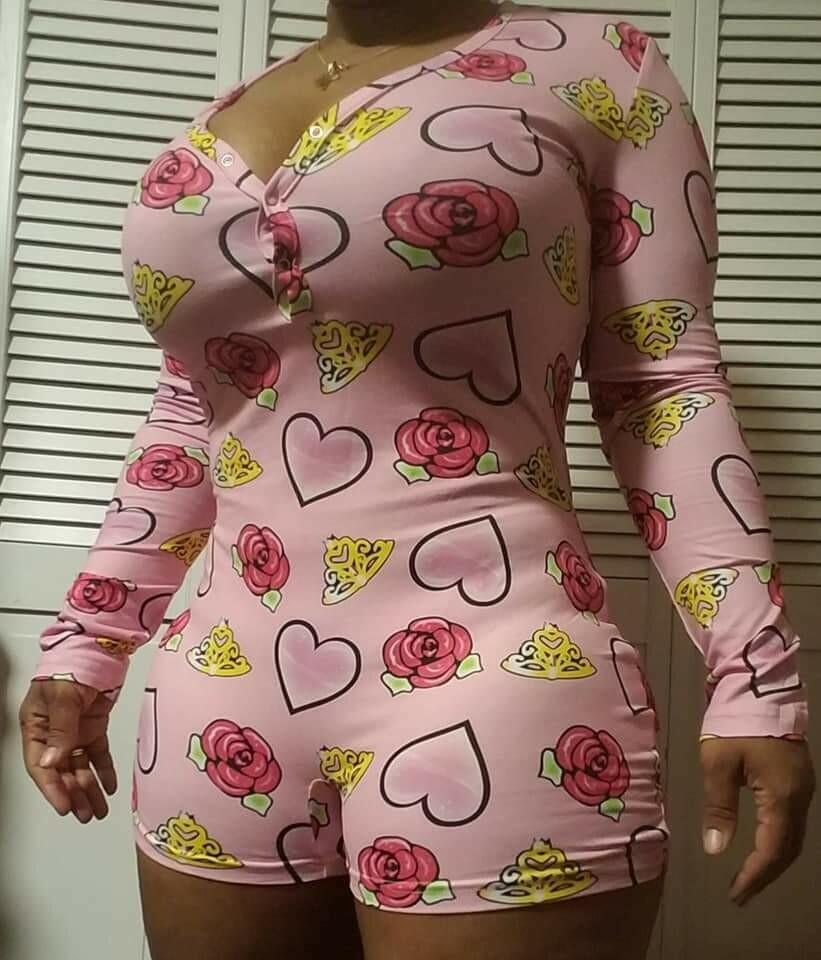 Women's 2021 Valentines Long Sleeve Shorts Onesie