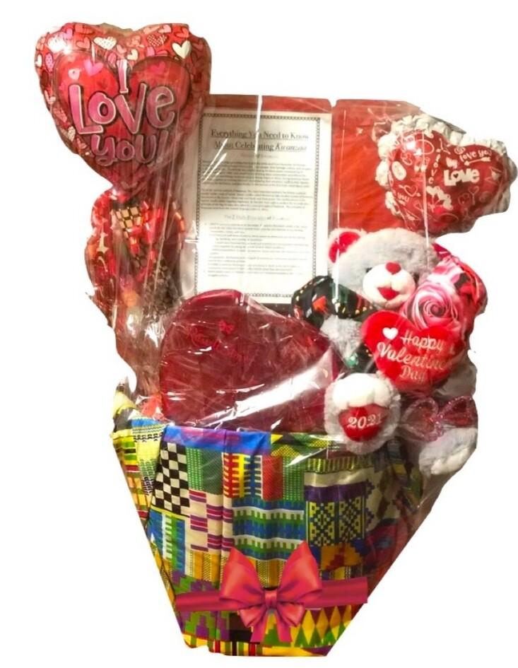 Limited Red Kwanzaa Kinara Gift Basket - Valentine's Day Gift