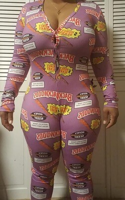 Limited Edition Womens Long Sleeve Pants Onesies