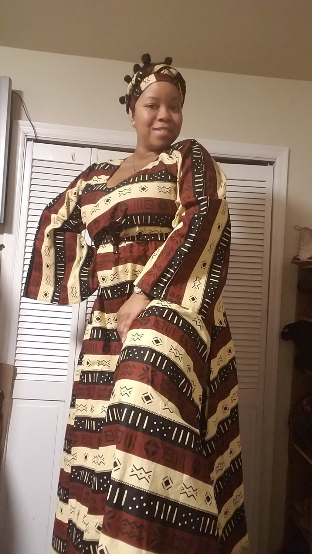 African Wrap Dress