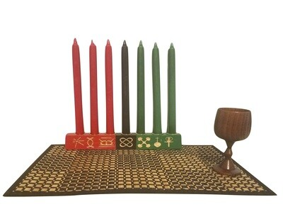 Colors of Africa Engraved Seven Principles of Kwanzaa-
