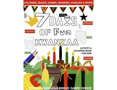 """7 Days of Fun: Kwanzaa Kids Activity and Coloring Book for Kids""""-Digital Unlimited"""