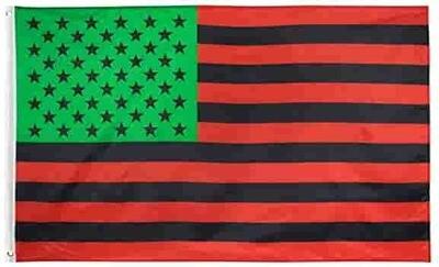3 x 5 Pan African American Flag