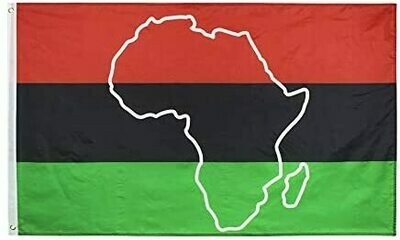 3 x 5 Pan African Africa Outline Flag