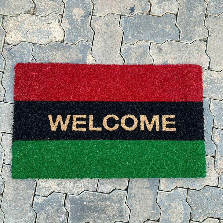 Pan African UNIA Flag Welcome Doormat