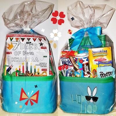 Seven Symbols of Kwanzaa Kids Gift Basket Set w/Kwanzaa Activity & Coloring Book