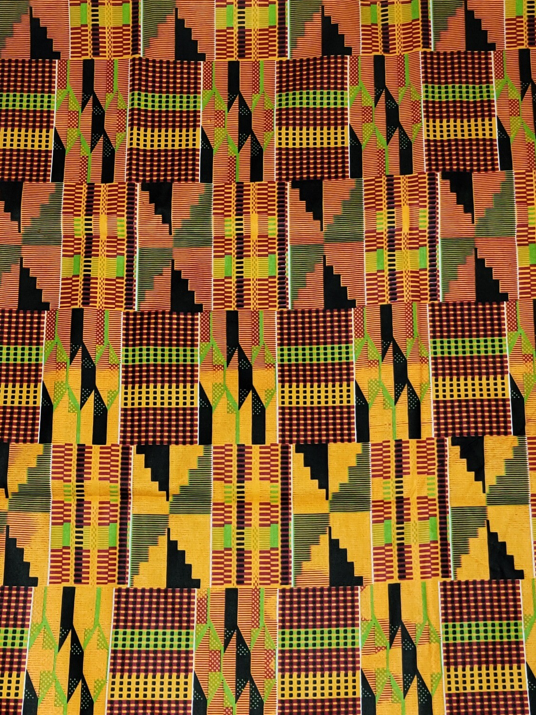 Kente Fabric, Ankara Print, Kente Fabric by the Yard, Kente Wax Fabric