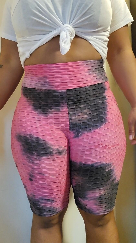 Textured High Waist Compression Leggings